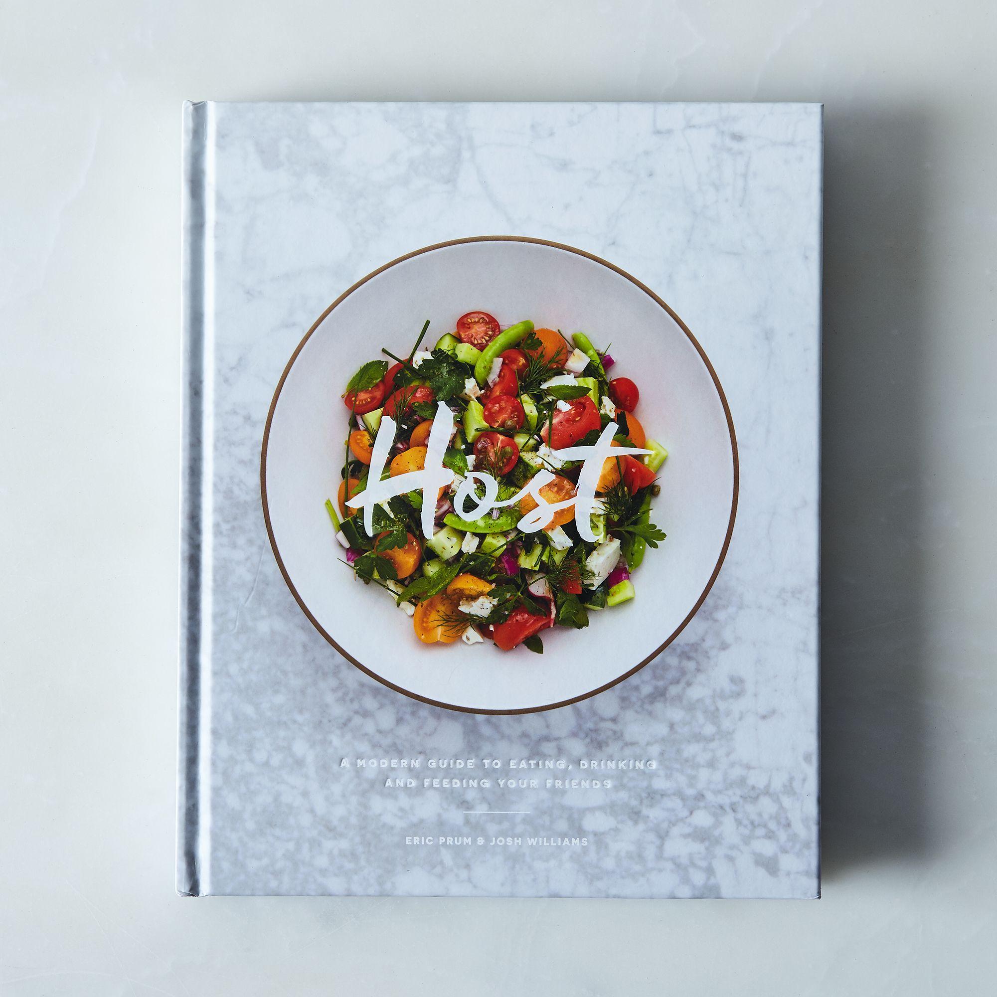 Host Cookbook & Walnut Cutting Board Host Cookbook