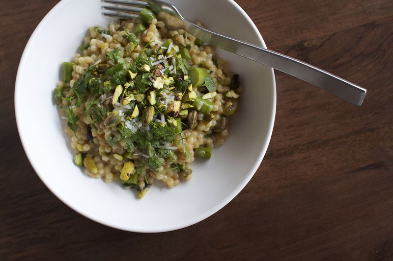 Couscous with Asparagus, Chervil + White Wine by CarolineWright