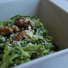 B344abb7 e65c 403e b28d a8e26e985972  zucchini pasta with kale walnut pesto living minnaly11
