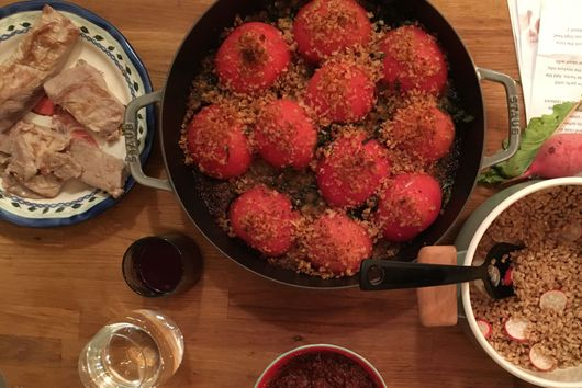 Baked Tomatoes with Basil and Butter