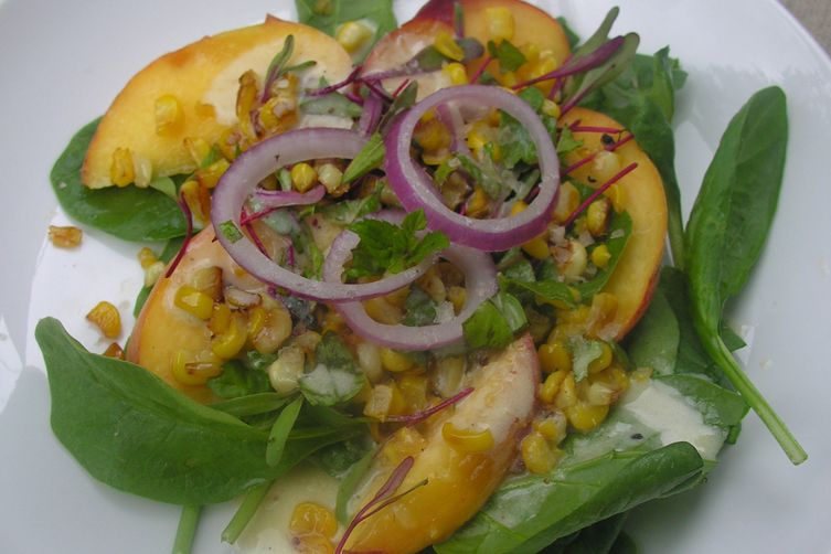 Warm orchard and field salad