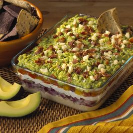 Layered Guacamole Dip with a New Twist, From the Kitchen of Rick Bayless