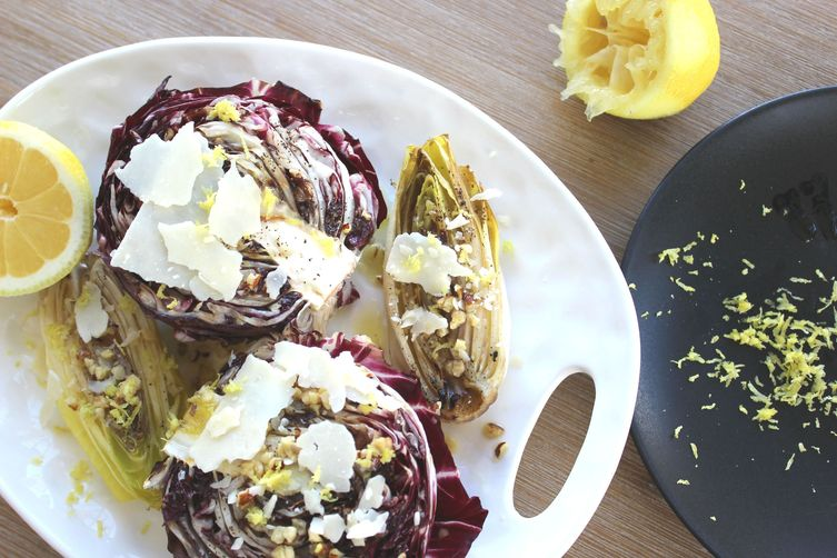 Grilled Radiccio & Endive Salad with Hazelnut Dressing