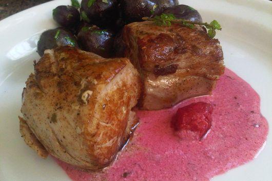 Pork Tenderloin with Raspberry and Lavender