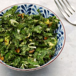 Avocado Kale Salad with Lemon Coconut Dressing
