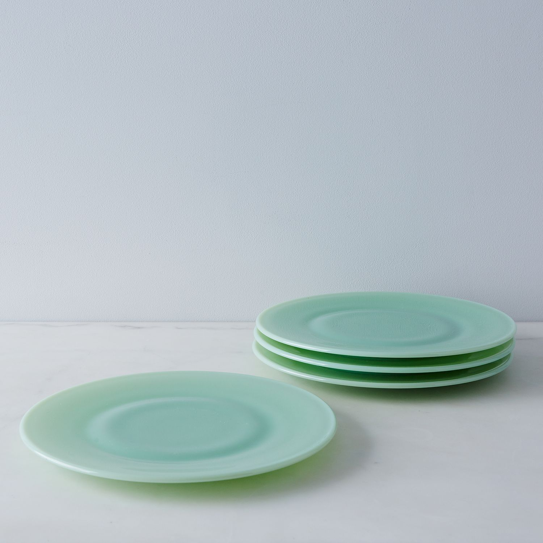 jadeite glass dinner plates set of 4 on food52
