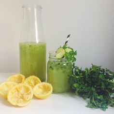 Cucumber-Cilantro Lemonade Cocktails