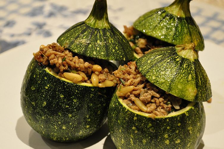 Zucchini Farci with Nepalese minced pork curry