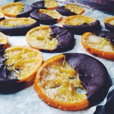 Dark Chocolate Dipped Candied Citrus Slices with Vanilla Infused Sea Salt