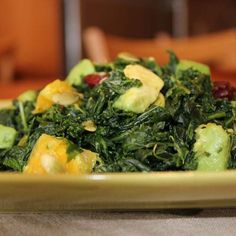 Kale Avocado Salad with Orange & Mint