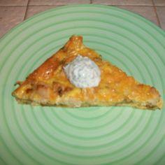 Green Chile, Chicken and Cheese Fritatta with Cilantro Sour Cream