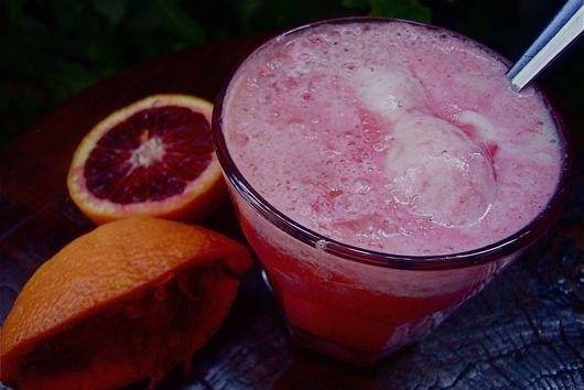 Blood Orange Dreamsicle Float
