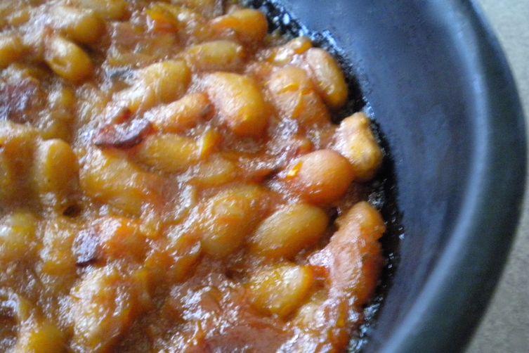 Rhubarb Bean Bake