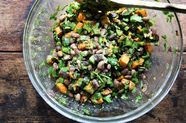 A Chile-Spiced Roasted Sweet Potato Salad That's Happy Hot, Cold, or as a Taco