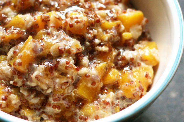 Red Quinoa Peach Porridge