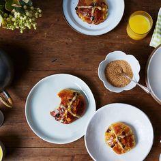 Honey-Glazed Brioche Hot Cross Buns