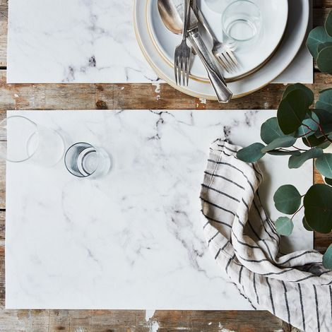 Natural Vinyl Placemats (Set of 4)