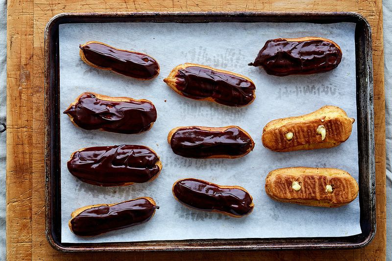 Glaze by dipping in a delicious pool of chocolate.