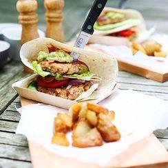 Big BBQ Chicken Wrap Burgers
