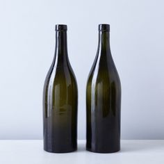 Vintage French Wine Bottles (Set of 2)
