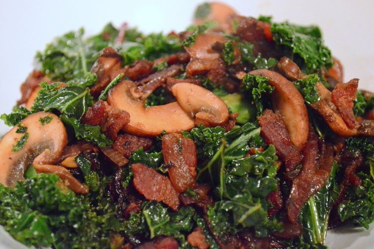 Kale with Bacon and Balsamic