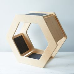 Wall-Mounted Hexagonal Cat Scratcher