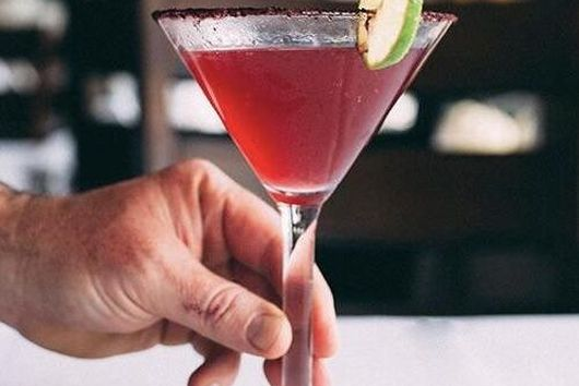Blueberry Cosmo Cocktail
