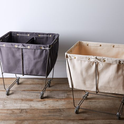 Elevated Laundry Basket