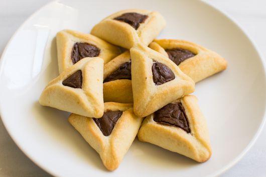 Vegan Chocolate-Sesame Hamantaschen Cookies