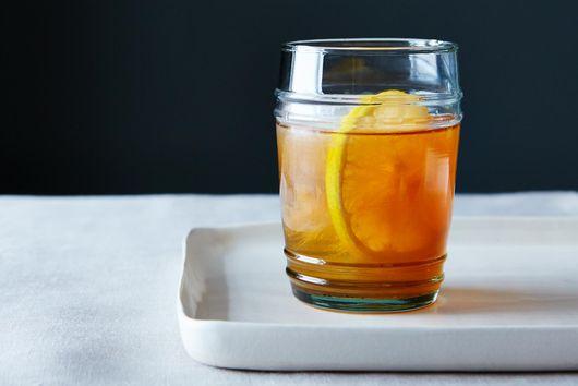 Meyer Lemon-Vanilla Bean Bourbon Smash