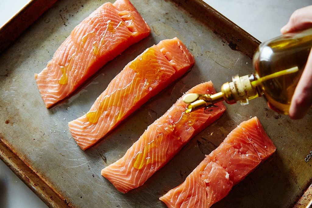 How to never overcook salmon or other fish genius recipes for Fish in oven