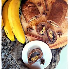 Banana flour banana roll