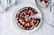 Yogurt and Berry Tart with a Pecan Crust
