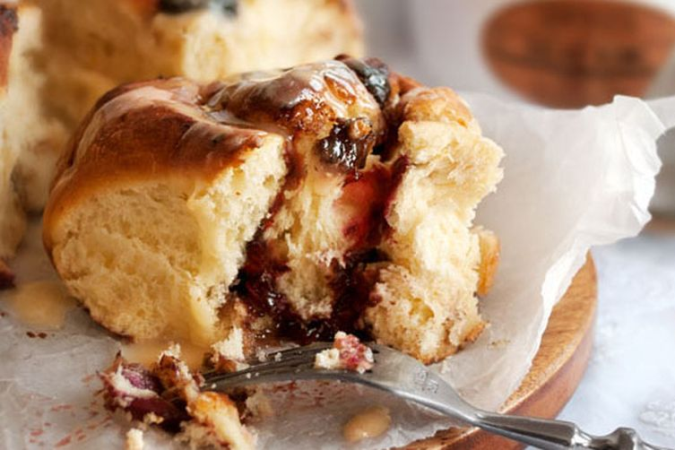 Chocolate Cherry breakfast buns
