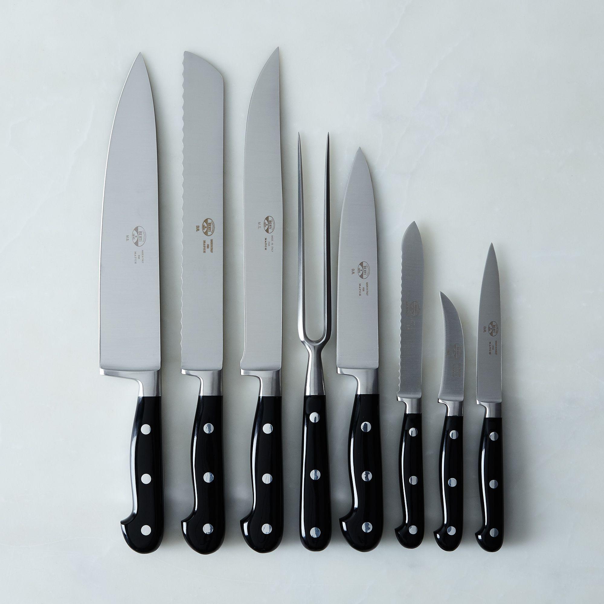 Berti Black-Handled Italian Kitchen Knives on Food52