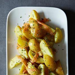 Tarragon Potato Salad with Cured Salmon and Lemon Vinaigrette