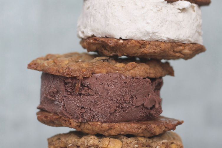 Everything cookie ice cream sandwich