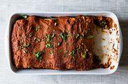 Wintry Mushroom, Kale, and Quinoa Enchiladas
