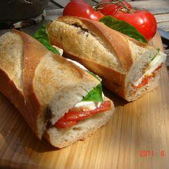 Mozzarella Caprese Sandwich