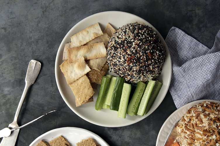 Nori, Sesame Seed, and Togarashi Cheese Ball
