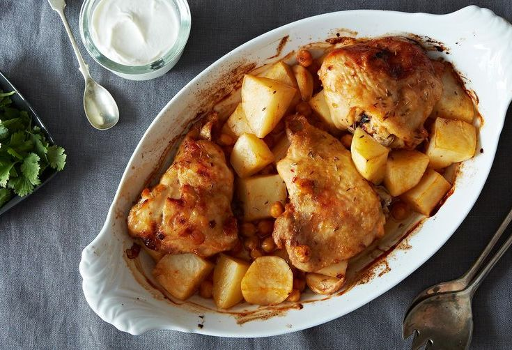 Dinner Tonight: Extraordinary Roasted Chicken + Quick Peanut Butter Squares