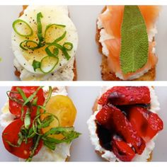 Sweet and Savory Canapés