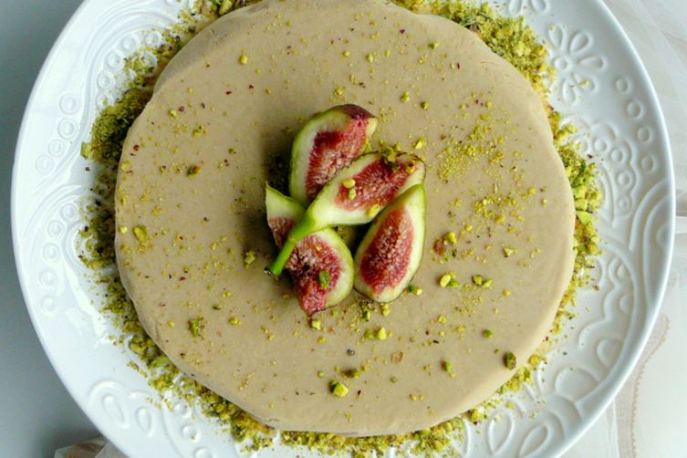 Masala Chai Semifreddo served with Crushed Pistachios and Fresh Figs
