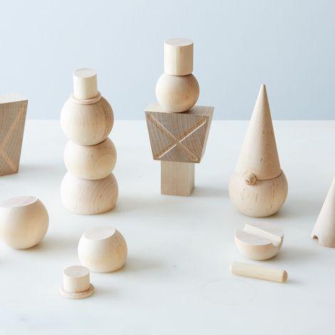 Wooden Stackable Figures