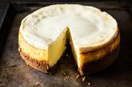 Meyer Lemon Cheesecake with Biscoff Crust