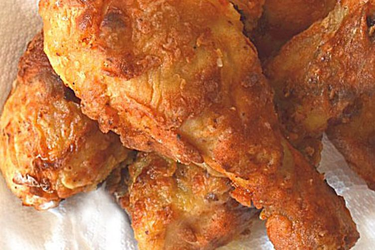 Easy Crispy Oven Fried Chicken ~ Made w/ Greek Yogurt & Olive Oil