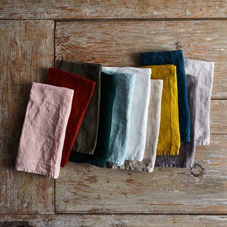 Stonewashed Linen Napkins (Sets of 4)