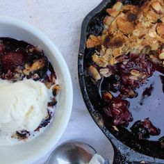Grilled Strawberry Blueberry Coconut Crisp