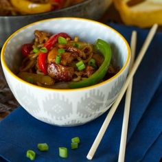 Teriyaki Chicken with Peppers & Noodles