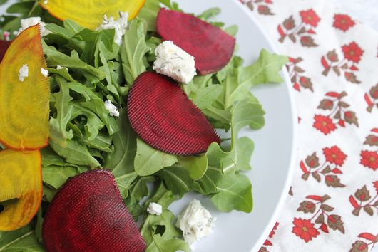 Sliced Beet and Baby Arugula Salad